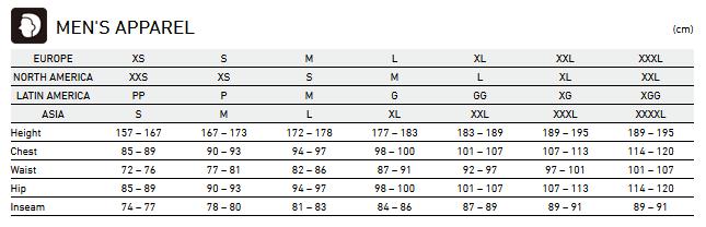 Tabela rozmiarów Shimano